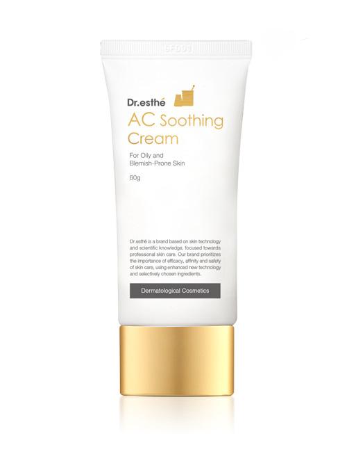 Ферментований крем для жирної і схильної до акне шкіри Dr.esthe AC Soothing Cream