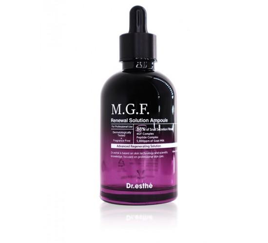 Омолоджуюча ампульна сироватка з пептидами і муцином равлики Dr.esthé MGF Renewal Solution Ampoule