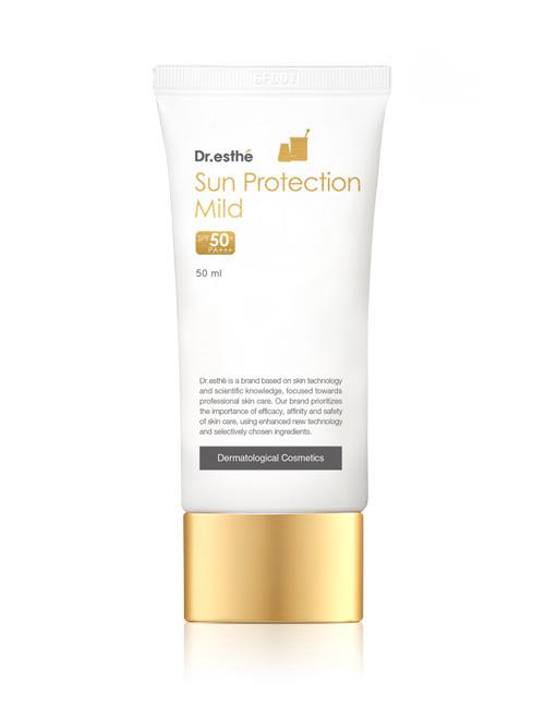 Легкий сонцезахисний крем для обличчя Dr.esthe Sun Protection Mild Cream SPF50+/PA+++