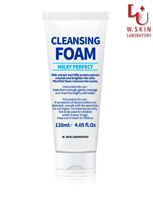 Молочная очищающая пенка для лица W.Skin Milky Perfect Cleansing