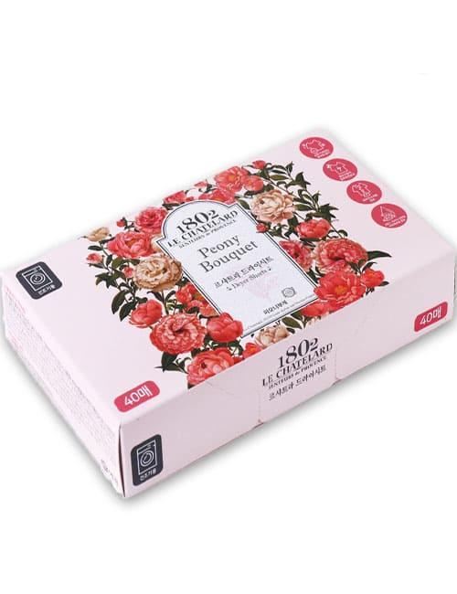 Кондиціонер-серветки Le Chatelard Dry Sheet Peony Bouquet 40шт