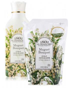 Ополаскиватель для белья  Le Chatelard Fabric Softener Muguet Bouquet   1л + запаска