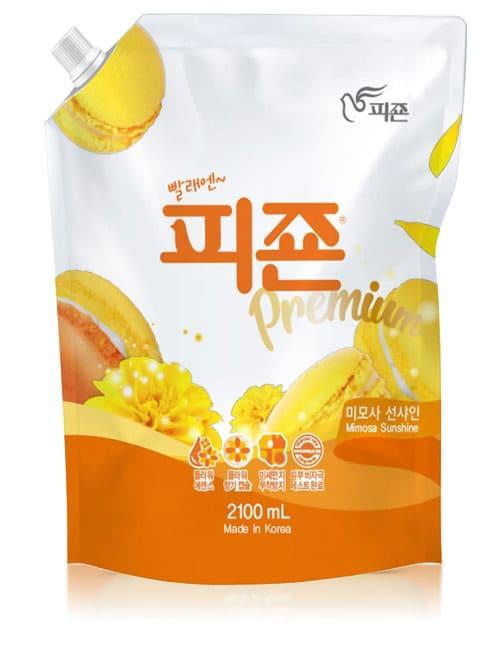 Ополаскиватель для белья Pigeon Premium Fabric Softener Yellow Mimosa 2.1л