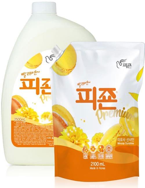 Ополіскувач для білизни Pigeon Premium Fabric Softener Yellow Mimosa 2.5л + запаска