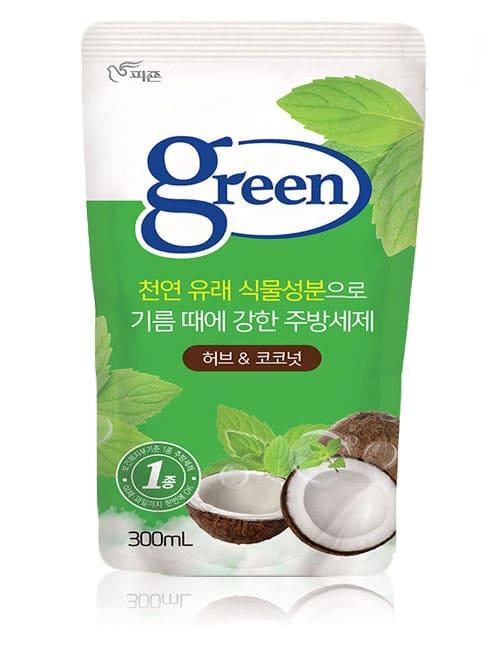 Засіб для миття посуду Pigeon Green Herb & Coconut 300мл м'яка упаковка
