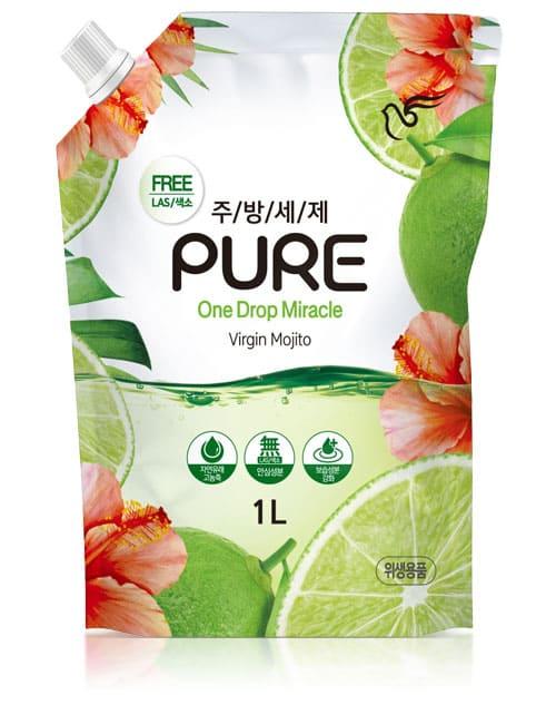 Средство для мытья посуды Pigeon Pure One Drop Miracle Virgin Mojito 1л мягкая упаковка