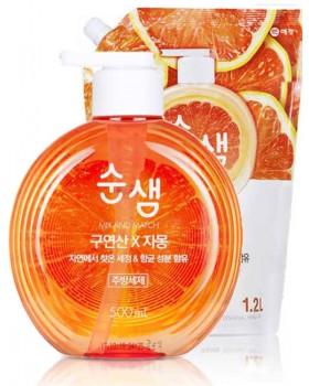 Засіб для миття посуду Soonsaem Citric Acid Grapefruit 500мл + запаска