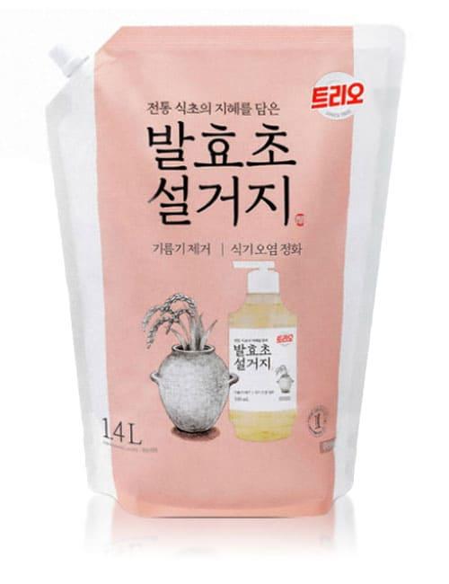 Засіб для миття посуду Trio Fermented Vinegar 1.4л  м'яка упаковка