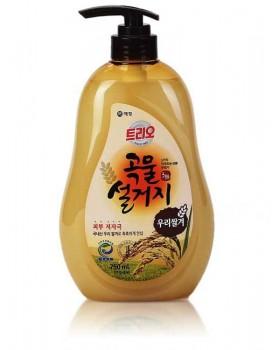 Средство для мытья посуды Trio Grain Rice 750мл