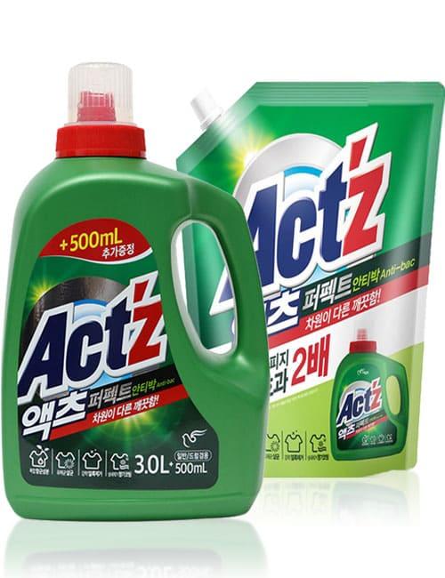 Гель для прання ACT'Z Perfect Anti Bacteria 3.5л + 2.2л