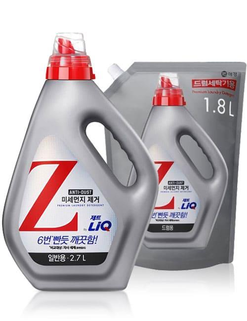 Гель для стирки LiQ Z Anti Dust For Drum 2.7л + 1.8л