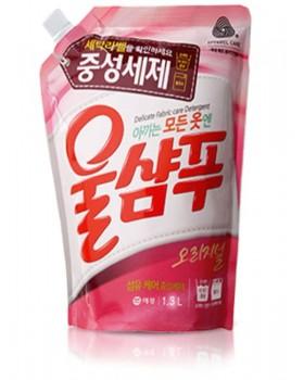 Жидкий стиральный порошок Wool Shampoo Original 1.3л мягкая упаковка