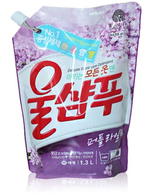 Жидкий стиральный порошок Wool Shampoo Purple Lilac 1.3л мягкая упаковка