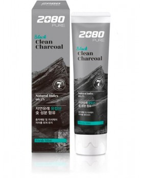 Зубна паста 2080 Pure Black Clean Charcoal Toothpaste 120г