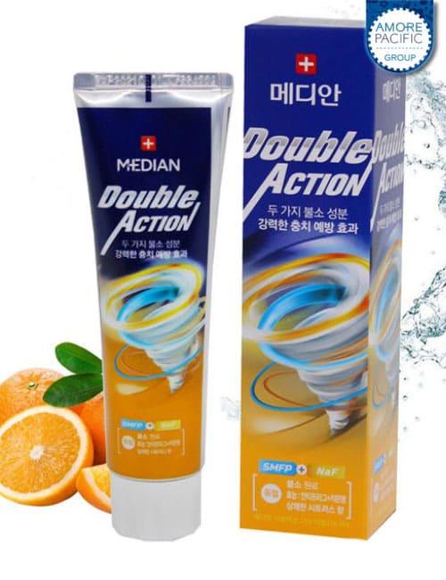 Зубная паста Median Double Action Citrus Toothpaste 130г