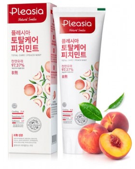 Зубна паста Pleasia Peach Mint Toothpaste 100г