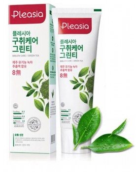 Зубна паста Pleasia Green Tea Toothpaste 100г