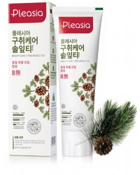 Зубна паста Pleasia Pinne Needle Tea Toothpaste 100г