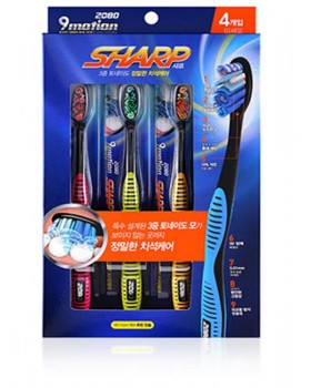 Набір зубних щіток 2080 9 Motion Sharp 4шт