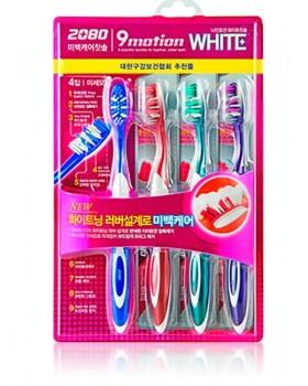 Набор зубных щеток 2080 9 Motion White 4шт