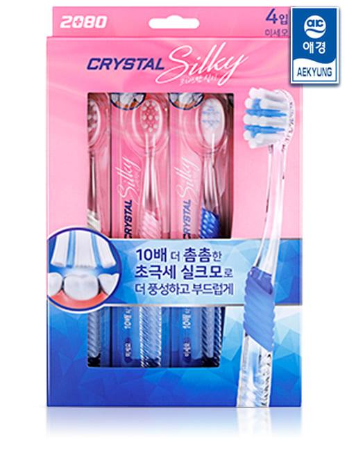 Набір зубних щіток 2080 Crystal Silk Microbrush 4шт