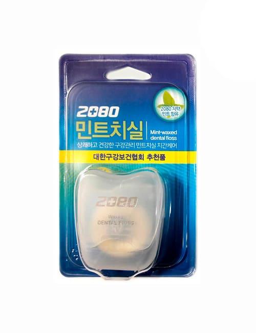 Зубная нить 2080 Waxed Dental Floss Mint