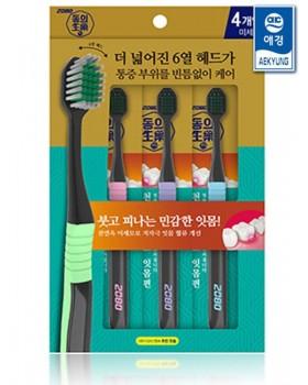 Набір зубних щіток 2080 Dong Jade Toothbrush 4шт
