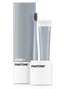 Зубная щетка и паста 2080 + PANTONE Portable Set Microbrush Gray