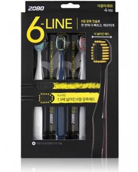 Набір зубних щіток 2080 Six Line Double Microbrush 4шт