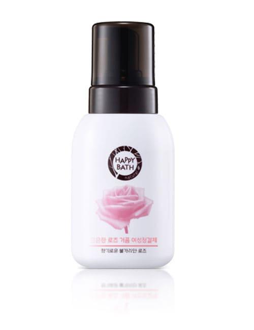 Пенное средство для интимной гигиены Happy Bath Feminine Soft Bubble Foam Rose 300мл