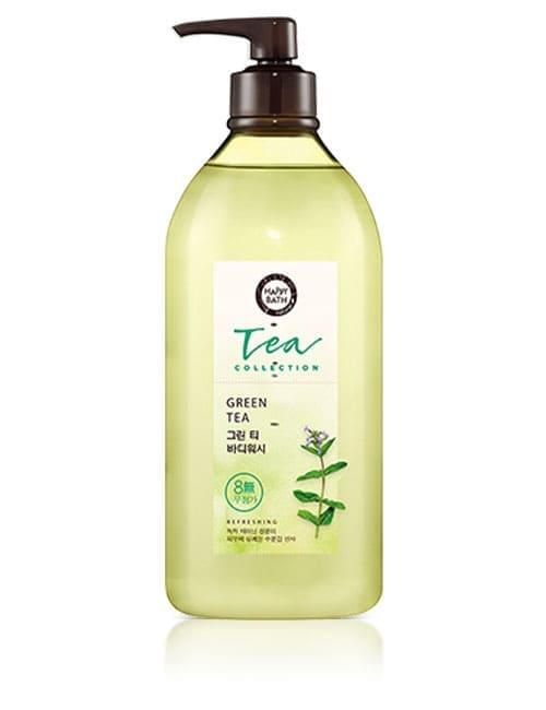 Гель для душа Happy Bath Young Leaf Tea Collection Green Body Wash 800г