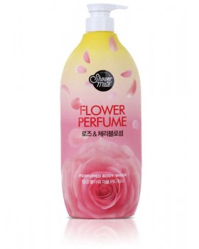 Гель для душу Shower Mate Flower Perfume Pink Rose & Cherry Blossom Body Wash 900г