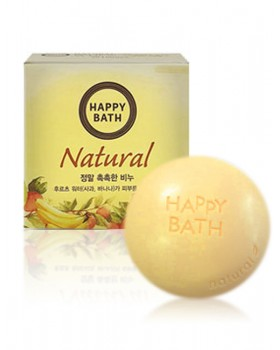 Твердое мыло Happy Bath Natural Moisture Fruit Water Soap 100г