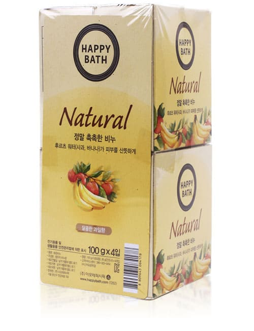 Набор мыла Happy Bath Natural Moisture Fruit Water Soap 4шт
