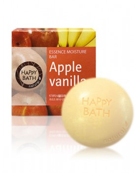 Твердое мыло Happy Bath Essence Moisturizing Bar Apple Vanilla Soap 100г