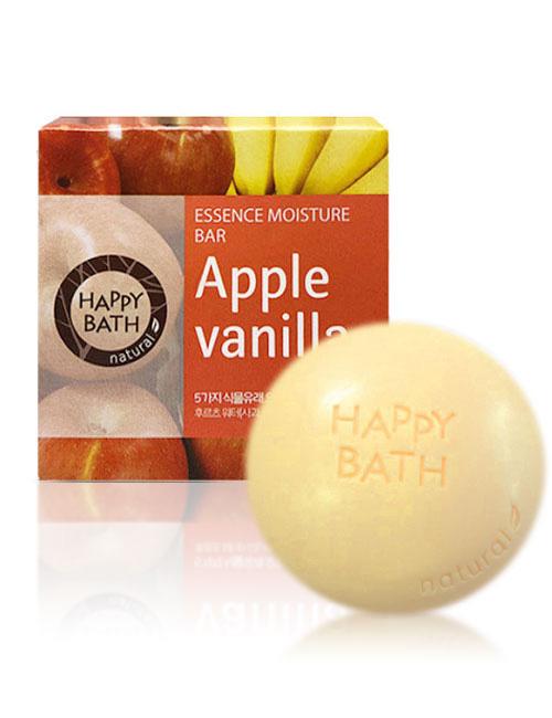 Твердое мыло Happy Bath Essence Moisturizing Bar Apple Vanilla Soap 100г