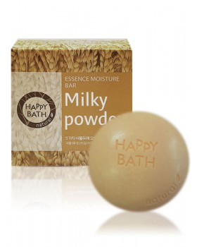 Твердое мыло Happy Bath Essence Moisturizing Bar Milky Powder Soap 100г
