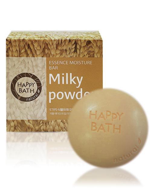 Твердое мыло Happy Bath Essence Moisturizing Bar Milky Powder Soap 100г