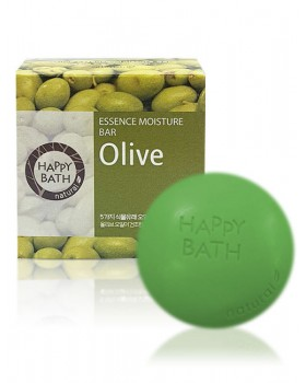 Твердое мыло Happy Bath Essence Moisturizing Bar Olive Soap 100г