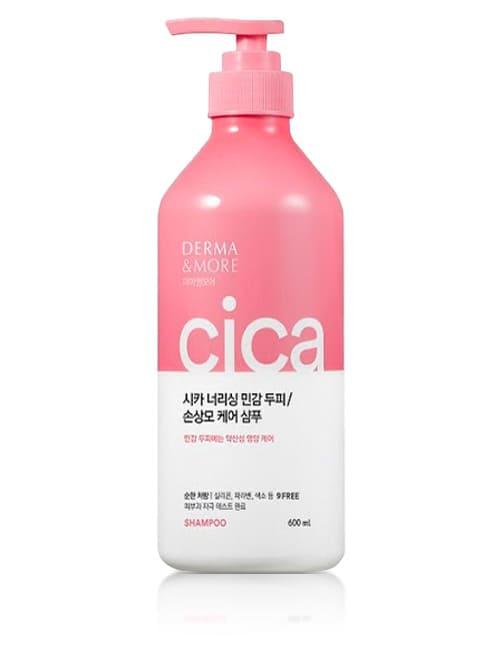 Шампунь для кожи головы и волос Derma & More Cica Nourishing Sensitive Scalp Shampoo 600мл